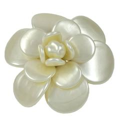 Rare Large Chanel Pearl Camilia Brooch/Enhancer