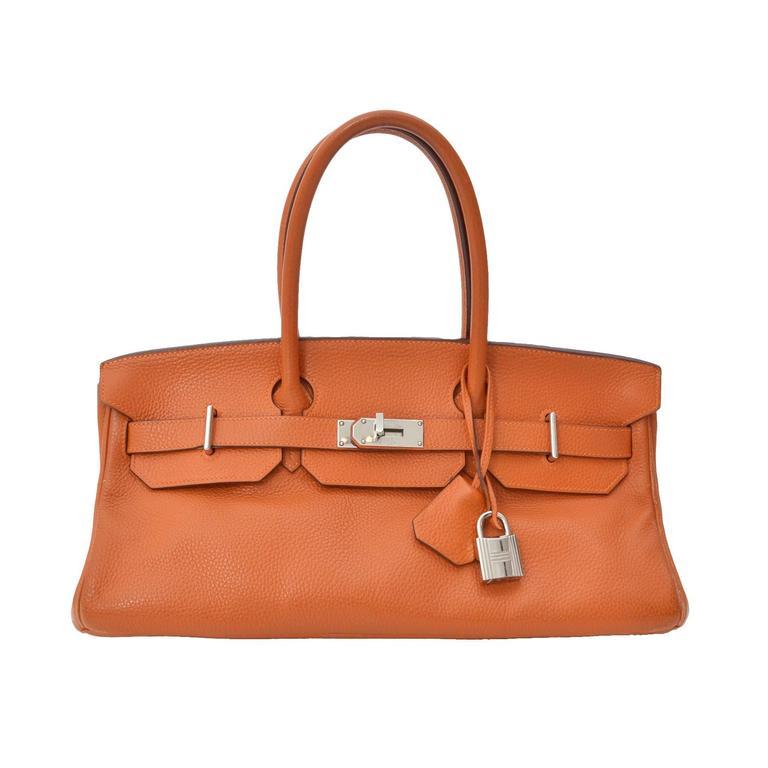 Hermès Birkin Shoulder Bag PHW Pumpkin Orange at 1stdibs f5f35f240445c