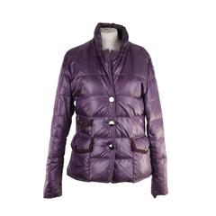 FAY TODS Italian Purple Nylon DOWN JACKET w/ Contrast Trim SIZE M