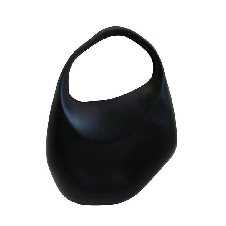 Thierry Mugler Vintage Rare Iconic Black Bubble Rubber Handbag For