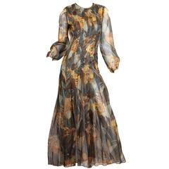 Pauline Trigere Silk Organza Dress