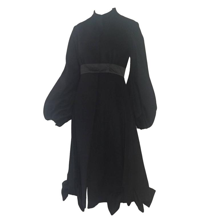 Givenchy Cashmere Princess Coat with Bows at Hem For Sale