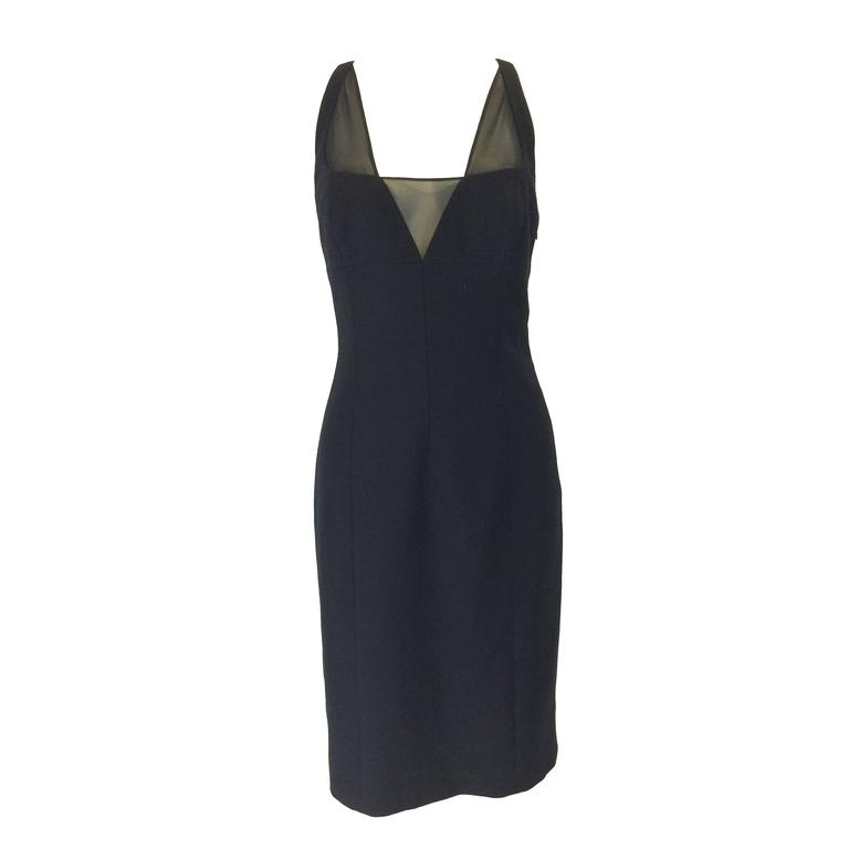 Gianni Versace Black Bodycon Cocktail Dress