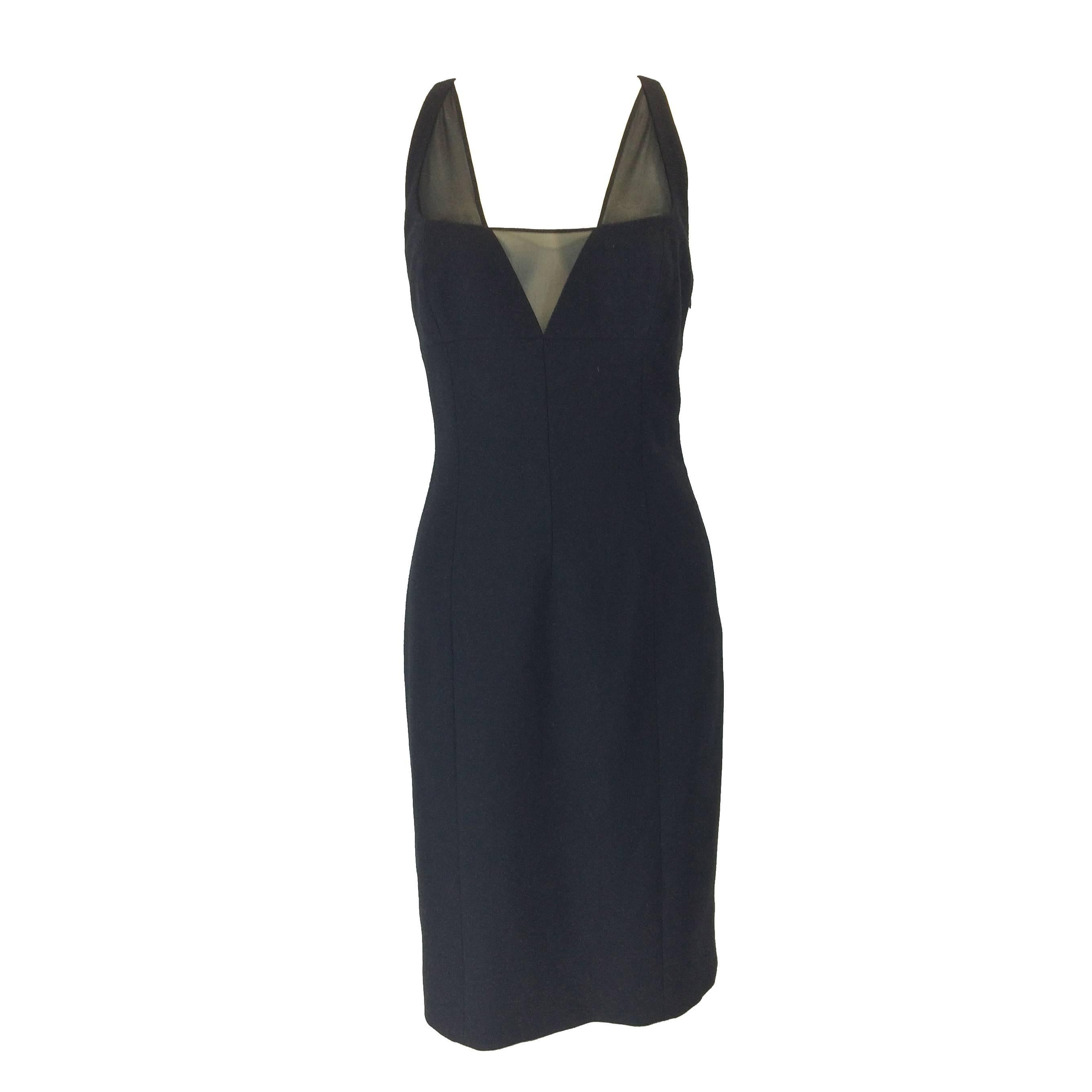 2087330a1b2 Gianni Versace Black Bodycon Cocktail Dress For Sale at 1stdibs