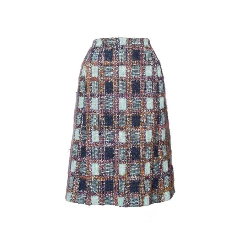 1970s Givenchy Haute Couture Boucle A-line Skirt 1
