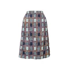 1970s Givenchy Haute Couture Boucle A-line Skirt