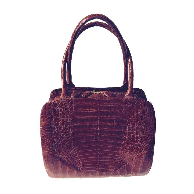 Nancy Gonzalez Top Handle Crocodile Bag