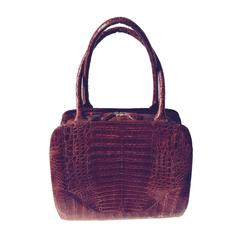 Nancy Gonzalez Top Handle Crocodile Bag