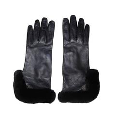 Chanel New/unworn Lambskin Leather and Rabbit Fur Gloves
