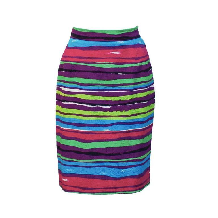 1990's Christian Lacroix Multi-colored Cocktail Skirt   For Sale