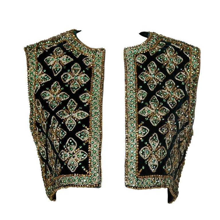 Larry Aldrich by Marie McCarthy Vintage 1960s Embellished Vest or Waistcoat For Sale