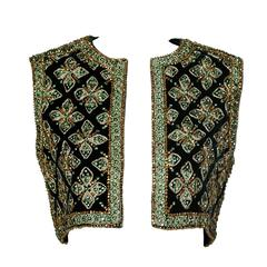 Larry Aldrich by Marie McCarthy Vintage 1960s Embellished Vest or Waistcoat
