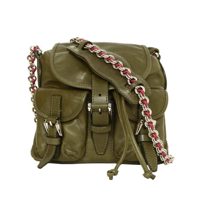 Balenciaga Olive Green Crossbody Bag SHW For Sale