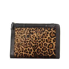 christian louboutin slingback flats Brown ponyhair leopard print ...