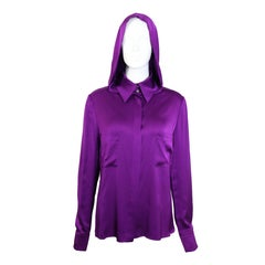 Chanel Purple Hoodie Shirt