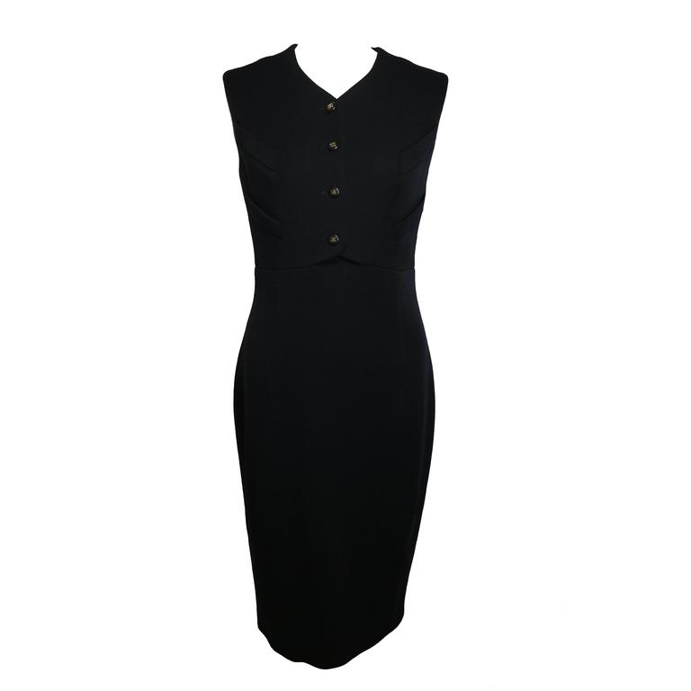 Chanel Classic Black Dress For Sale