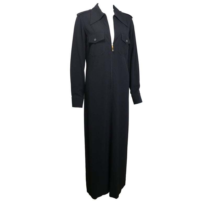 Gucci by Tom Ford Black Maxi Dress For Sale