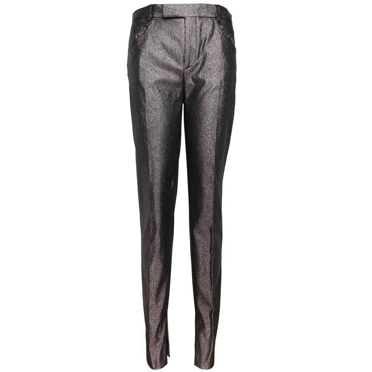 Tom Ford for Gucci Grey Metallic Pants