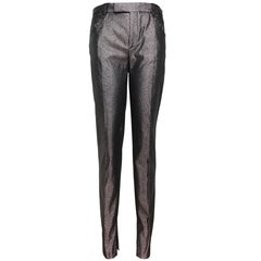 1997 Tom Ford for Gucci Grey Metallic Pants