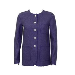 2013 Chanel Purple Tweed Jacket with Pearl Buttons