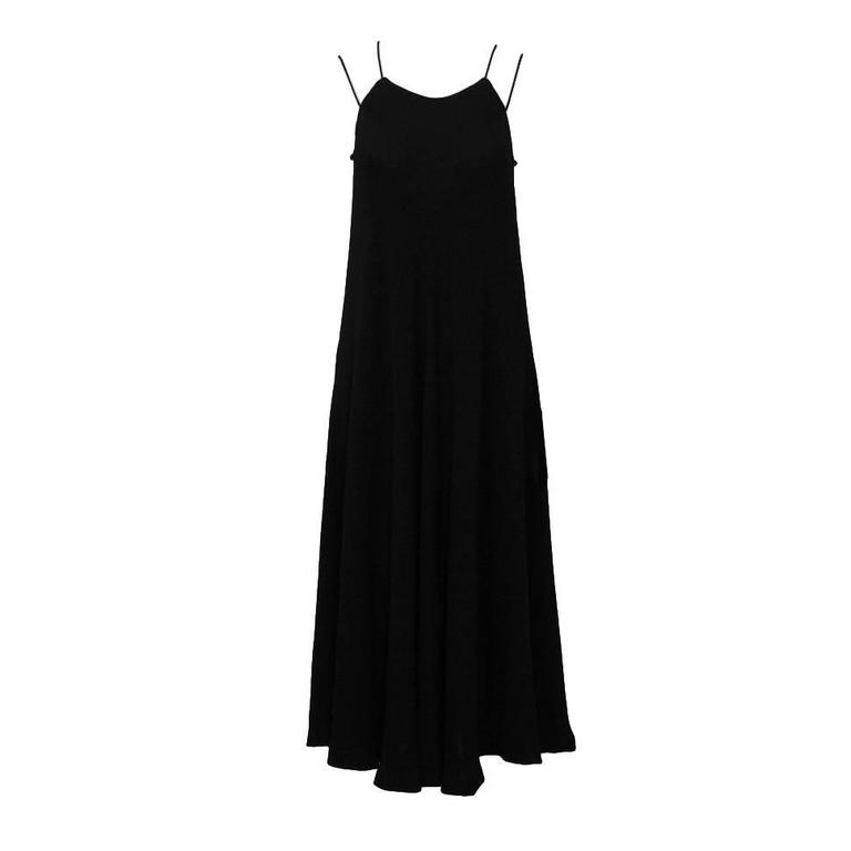 1970's Halston Double Strap Evening Dress