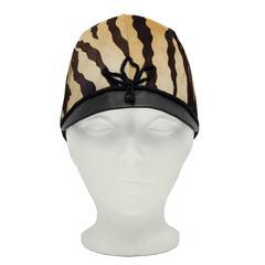 Mod 1970's Faux Tiger Jockey Cap