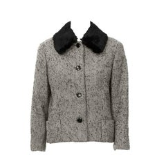 1950's Jacques Griffe Tweed Jacket with Fur Collar