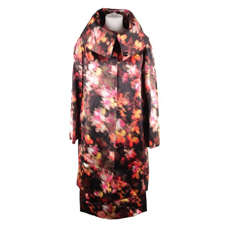 VERSACE Multicolor Silk SHORT SLEEVE DRESS & COAT Set SUIT Sz 40-42 IT
