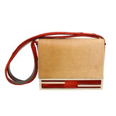 Fendi Camel Flap Shoulder Bag