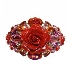 Philippe Ferrandis Red Rose Resin Cuff