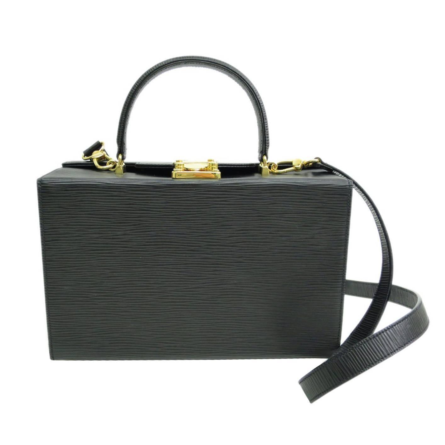 Fendi Black Epi Leather Box Satchel Shoulder Bag at 1stdibs
