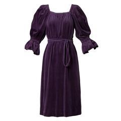 Lucie Ann of Beverly Hills 1960s Purple Velvet Dress