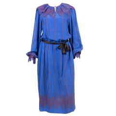 1970s Zandra Rhodes Rare Silk Dress