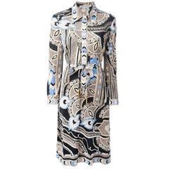 1970s Leonard Silk Dress