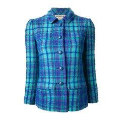Philippe Venet Blue Woven Wool Jacket, 1960s