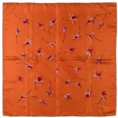 RARE FIND - Hermes Silk Scarf 'Fleurs de Fuschia' by Leigh P Cooke