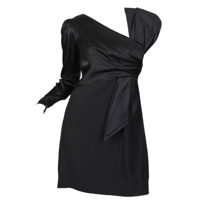 Bill Blass Assymetrical Cocktail Dress