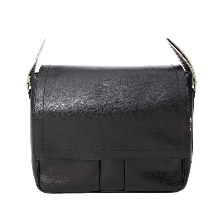 Salvatore Ferragamo Black Messenger Bag at 1stdibs bc8d61692e58d