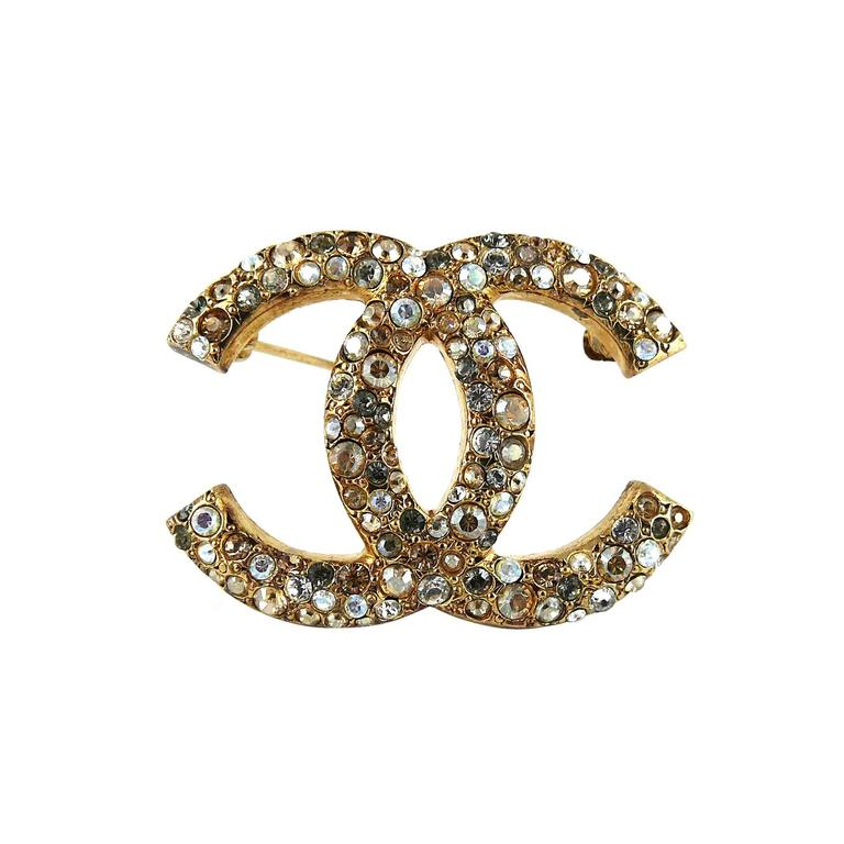 Chanel Crystal CC Brooch Fall 2007 1