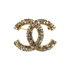 Chanel Crystal CC Brooch Fall 2007