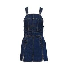 Gaultier Jeans Denim Bib and MIni Skirt
