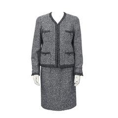 1997 Chanel Graphite Boucle Suit