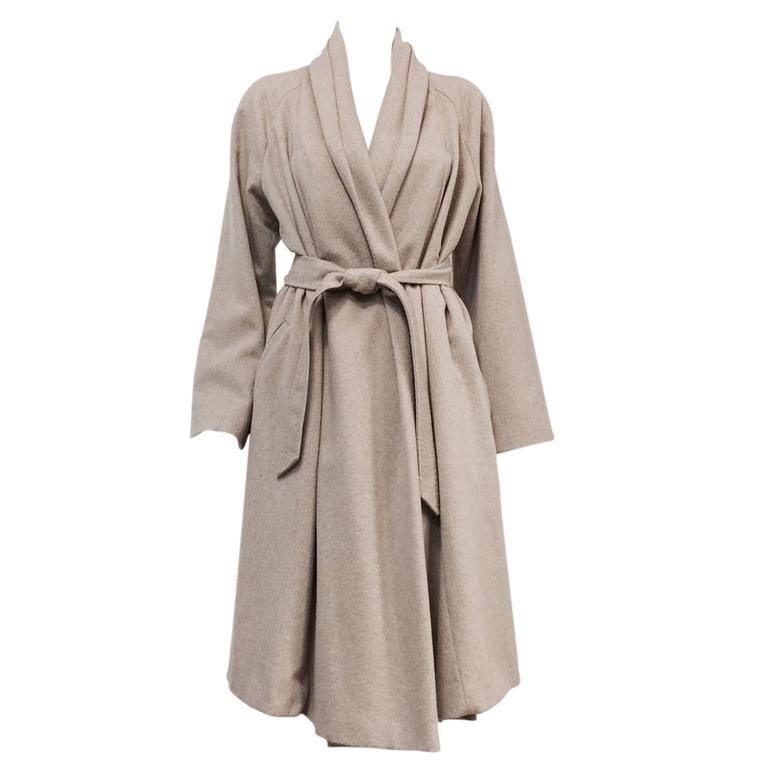 Max Mara 100% Cashmere Belted Coat With Shawl Collar  For Sale