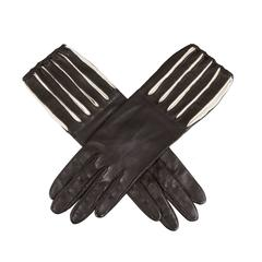 Optical Black and White Kid Gloves by Freddy