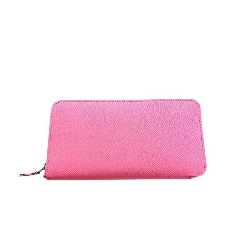 Hermes Rose Confetti Pink Silk-In Wallet Silk Interior Della Cavalleria Gift 1