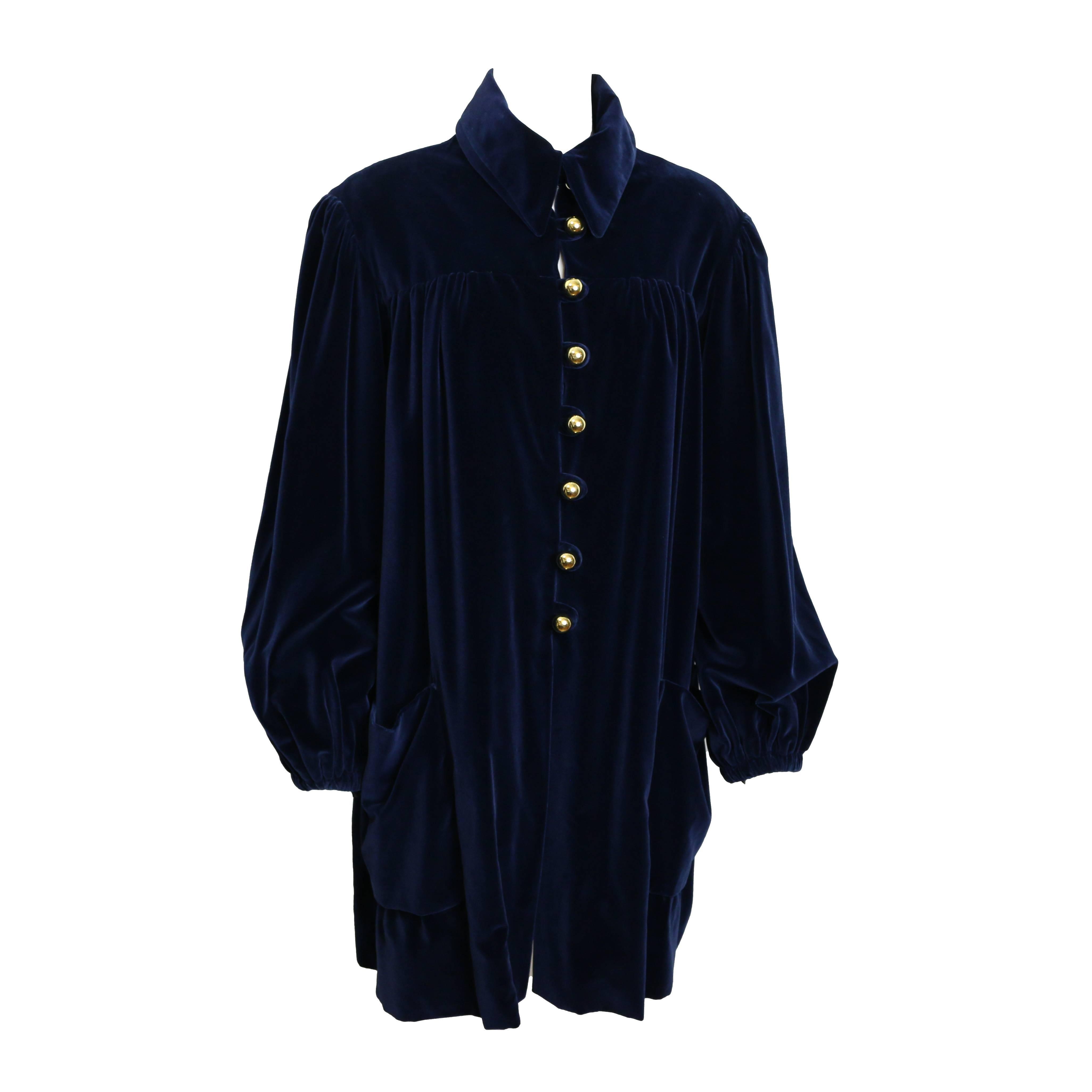 Vintage Moschino Couture Blue Velvet Jacket