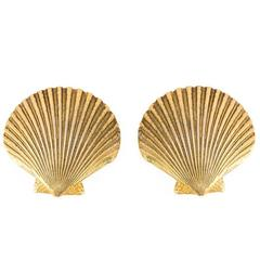 1990s Saint Laurent Seashell Earrings