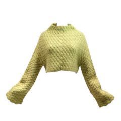 1998 Akira Isogawa Runway Cropped Knit Sweater