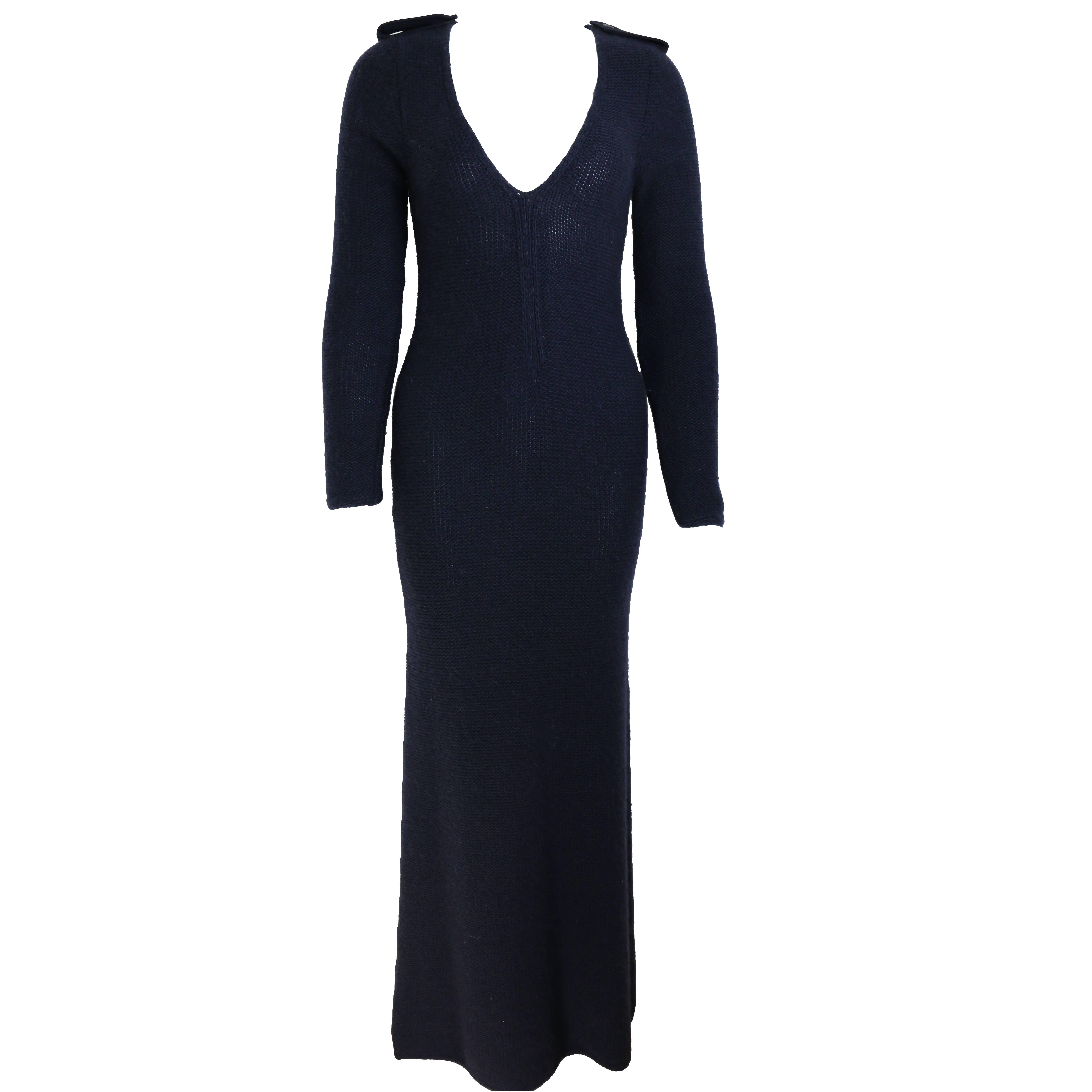 e1ea5c1e7 Gucci by Tom Ford Black Maxi Dress For Sale at 1stdibs