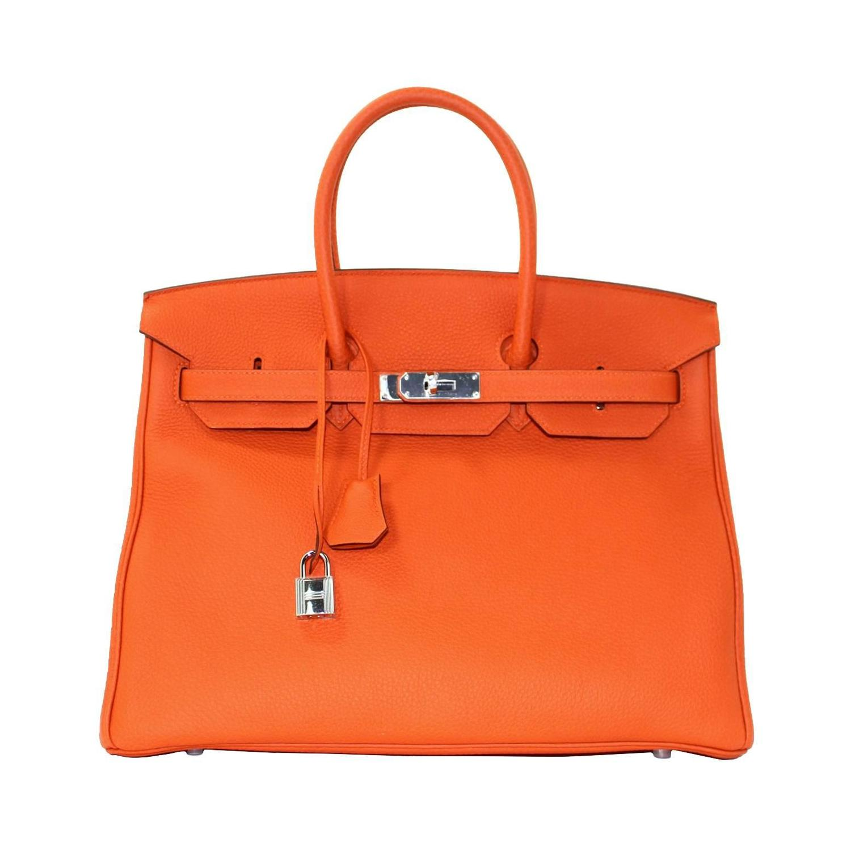 hermes orange bag